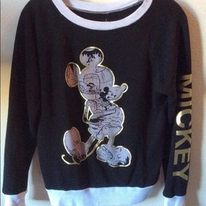 Sweatshirt Mickey Mouse Black/white SZ:S